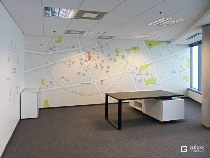 Główka pracuje pl WTT fototapety z atestami na nieszkodliwość dla zdrowia i niepalność, mapa Warszawy