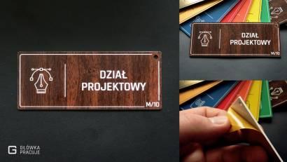 Główka pracuje tabliczki administracyjne orzech dział projektowy