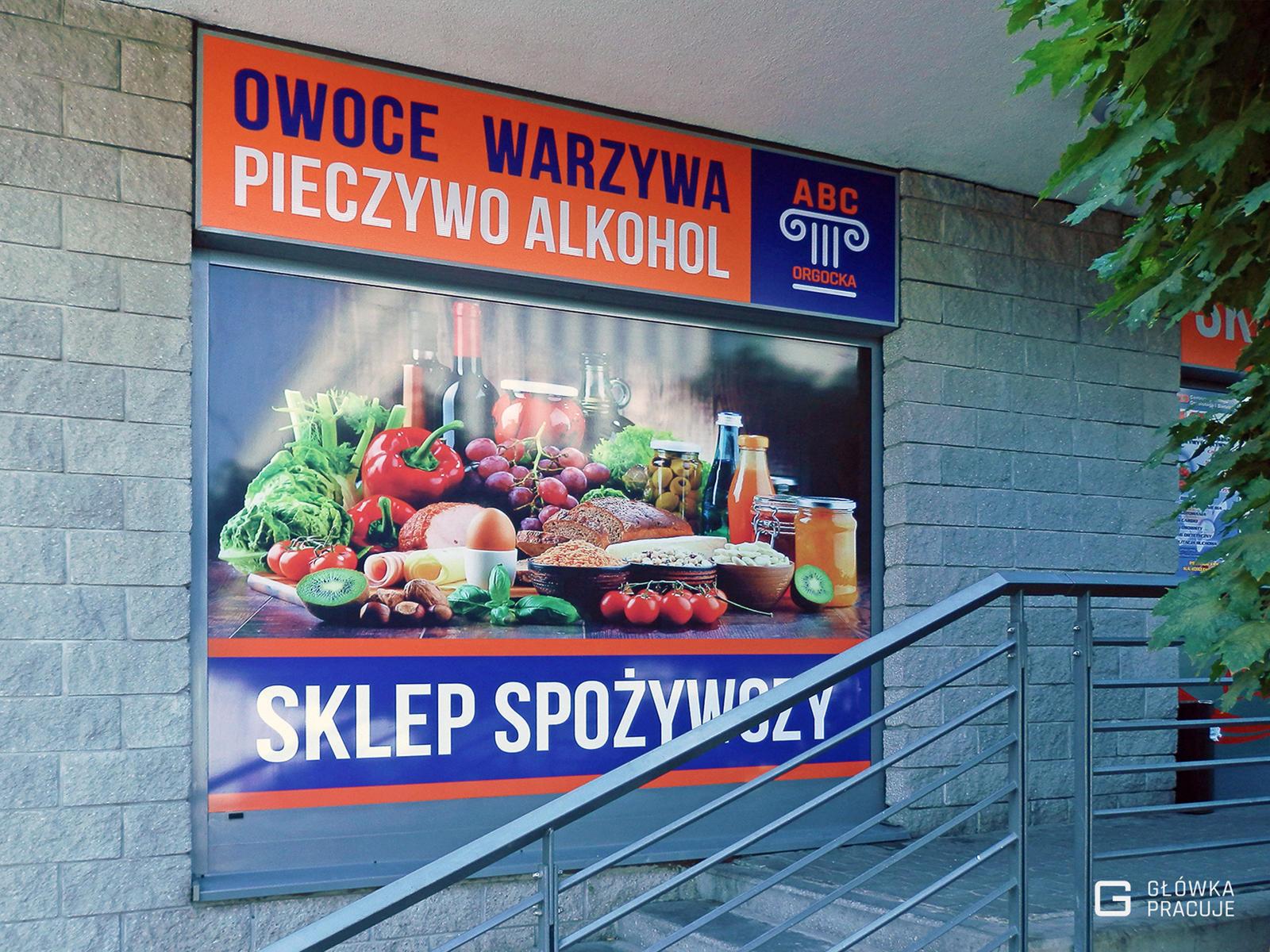 Główka pracuje pl Rebranding ABC Sklep Spożywczy ul Bobrowiecka 3 folie do podświetleń i druk