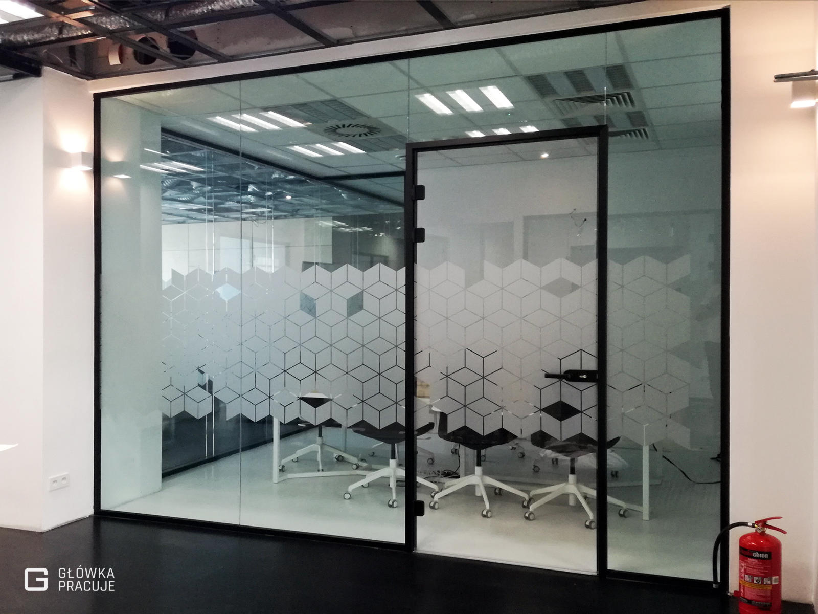 Główka Pracuje folia okienna mrożone szkł z wyciętym wzorem