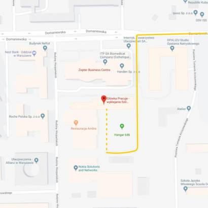 Domaniewska 37 A - mapa dojazdu - dostawy