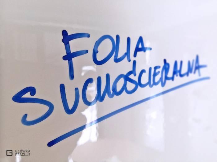 Główka Pracuje folia suchościeralna biała błyszcząca Aslan do markerów Warszawa