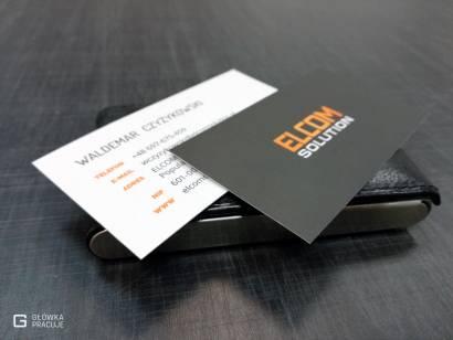 Główka Pracuje matowe wizytówki laminowane matową folią Classic drukowane na sztywnej kredzie mat 350g - Warszawa
