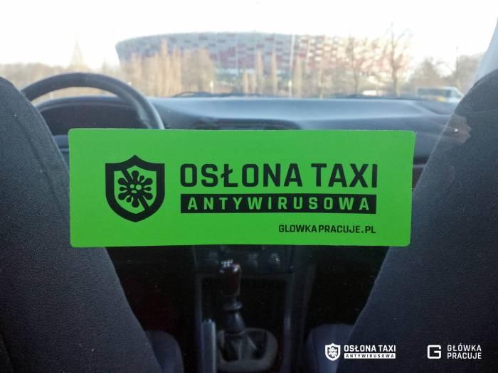 Główka-Pracuje-Osłona-Taxi-Antywirusowa-przezroczysta-kurtyna-ekran-uniemożliwiająca-zakażenie-podczas-przejazdu-samochodem-Warszawa
